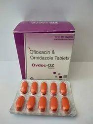 Ovdoc-OZ Allopathic Ofloxacin & Ornidazole Tablets, Healthdoc Labs, 10 X 10
