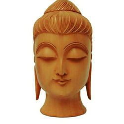 Brown Hand Carved Wooden Handicrafts, For Home, Size: 3