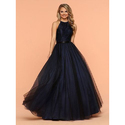 Blue Fashionable Long Gown