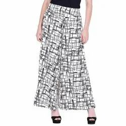 RichLook Fashion Printed Poly Crepe Regular Fit Palazzo Pant