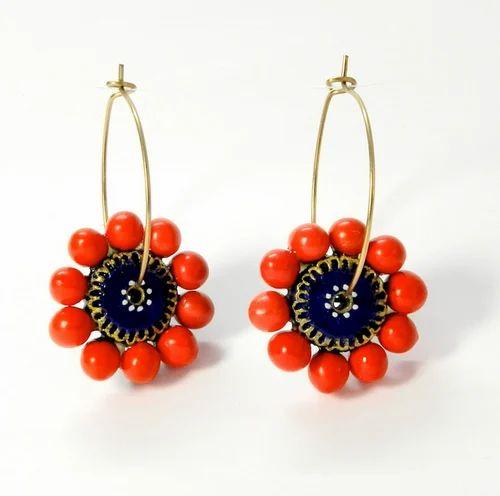 E Kas 05 Terracotta Jewellery Earrings