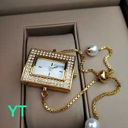 Watch Jewellery Pendant Necklace with Chain