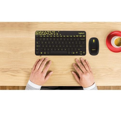 d1d2c8cd8bb Logitech mk240 nano wireless mouse and keyboard with black and chartreuse  yellow color