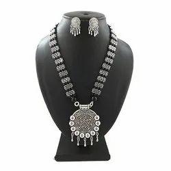 Oxidized Beads Fancy Necklace Set