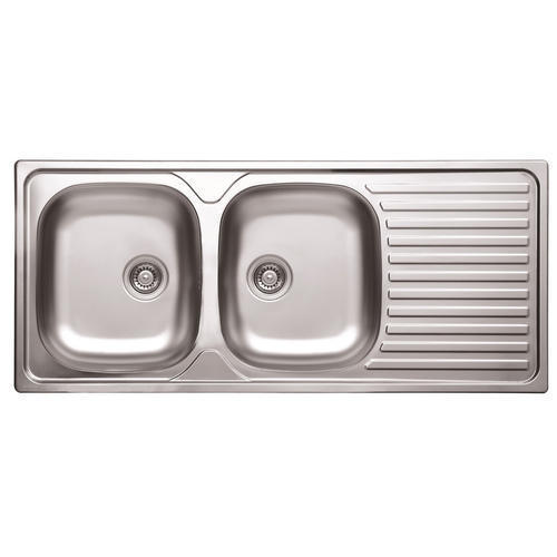 PELWASINK Stainless Steel Double Bowl Sink With Drain Board