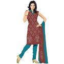 Maroon Print Bandhej Suit