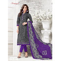 Party wear Suryjyoti Unstitched Printed Churidar Suit