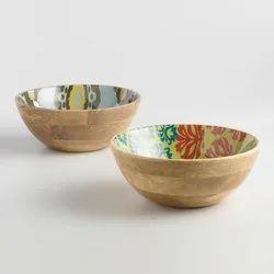 Mango Wood Serving Bowl