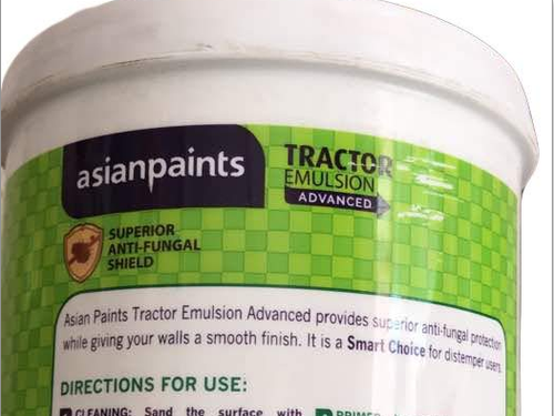 Surface Dry Time 30 Min Asian Paints Tractor Emulsion Advanced 20ltrs Id 20406736973