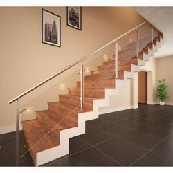 Etching Glass Handrail
