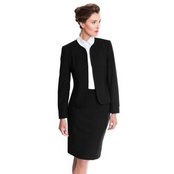 Cotton Formal Skirt, Shirt and Blazer's Set for Office