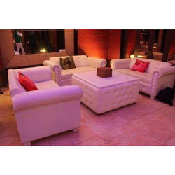 Magnetic Crafts White Leather Sofa
