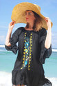 Beach wear embroidery dresses