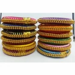 Silk Thread Bangles In Neon Colors