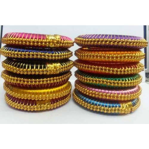 8b1f058203056 Silk Thread bangle Jewellery - Indian Silk Thread Bangle ...