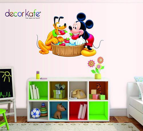Decor Kafe Mickey Mouse Wall Decals Sticker Kids Nursery Decor Wall