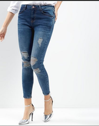 Womens Ripped Lead Skinny Jeans New Look Amazing Price LNOlNhR