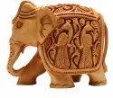Wooden Elephant (l 13.00 Cm X H 10.50 Cm), For Home Decor