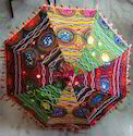 Traditional Cotton Sari Material Handmade Umbrella Parasols