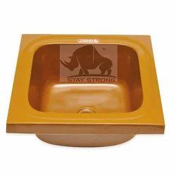 Single Ready To Mount Jaiho Premium Quartz Sink - 18x18x8, Shape: Square