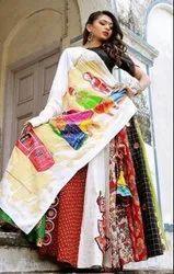 Designer Multi Heavy Satin Banglory Lehenga Choli