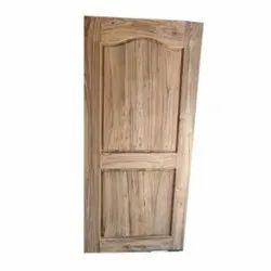 Hinged Brown Sagwan Wood Panel Door