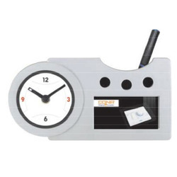 Promotional Table Clock Pen Stand