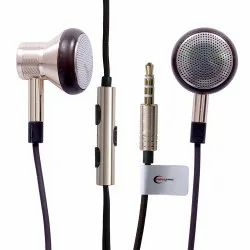 GOLD Mobile Ample e Comm Metalearphone Wired Headset With Mic, Headphone Jack: 3.5mm