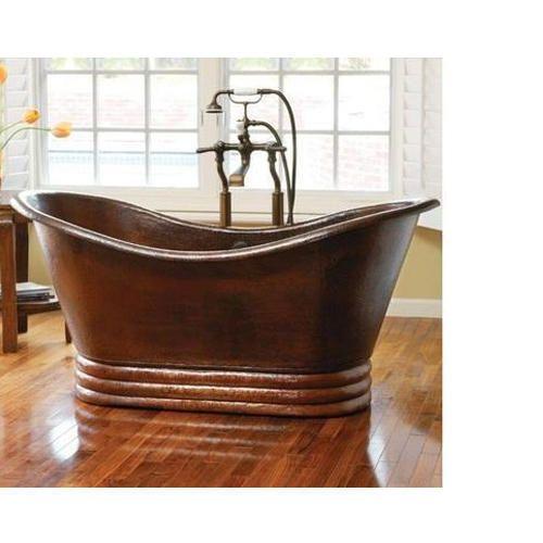 slipper bathtub copper plinth tub paxton bathroom on pedestal hammered