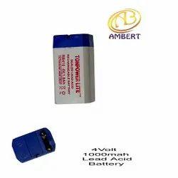 Ambert Small Lead Acid Battery, Capacity: 1000mah, 4v
