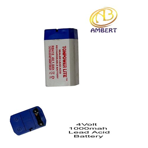 Ambert Small Lead Acid Battery, Capacity: 1000mah, 4v, Rs 21 /piece   ID:  22274463691