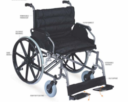 VICTOR Heavy Duty Steel Wheelchair