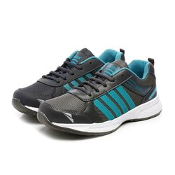 Mens Dark Grey Sea Green Synthetic Walking Shoes
