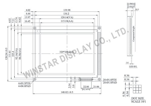 Resistive Touch Screen LCD 320x240
