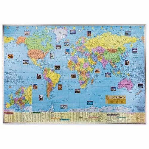 World Political & Physical Map, Duniya Ka Naksha - Sunrise ...