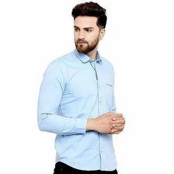 Mens Cotton Full Sleeve Plain Shirt, Size: M, L and XL