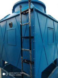 Fiberglass Reinforced Polyester Counter Flow 6/6 80 tr square cooling tower, Round, Induced Draft