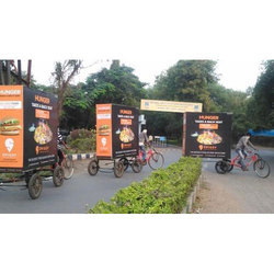 Polyester Printed Tricycle Advertising Banner