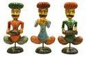Indoor Multicolor Wooden Handicraft Musician Bawla, For Decoration, Size/dimension: 14 Inchs