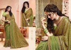 Stylish Party Wear  Lycra Saree