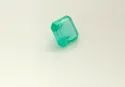 GRS Certified Natural Pastel Green Emerald Stone Faceted Square Cut Rare Gemstone