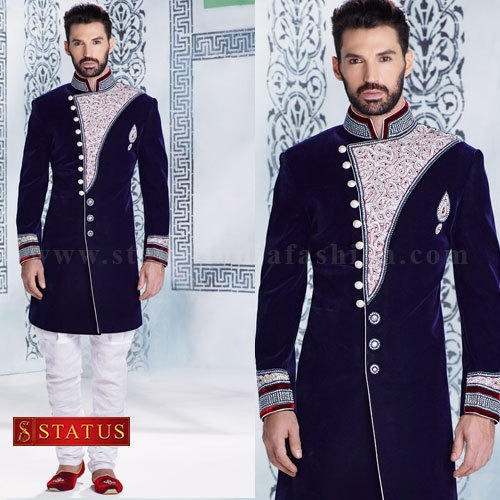 d17cc5cd7b Navy Blue Colour Indo Western Sherwani at Rs 18884 /piece | Dadar ...