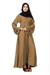 Nida Abaya Burkha With Black Beads And Chiffon Hijab For Women
