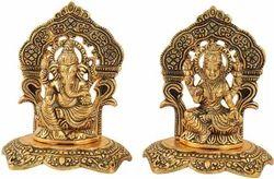 Gold Plated Laxmi Ganesha Statue Diwali Gift