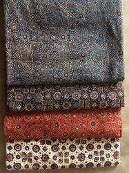 Traditional Indian Hand Block Printed Fabric, For Garments, For Dress