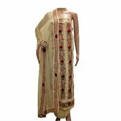 Sahej Ladies Chanderi French Knot Embroidery Suit
