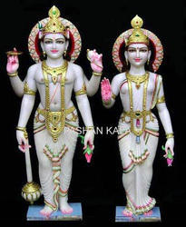 Marble Lakshmi Narayan Idols