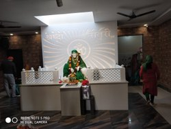 White Glossy Corian Temple, For Religious, Size: 6 x 4 Ft