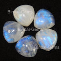 Bindal Blue Rainbow Moonstone Trillion Cabochon Gemstone
