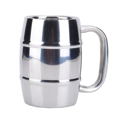 Double Wall Barrel Shape Beer Mug